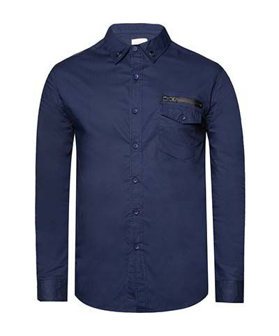 Long Sleeve Shirt With Coated Zip On Pocket by 24:01. Update your look with this shirt. 24:01 Long Sleeve Shirt With Zip Coated On Pocket featuring classic design with eyelets detail on the collar and ornaments zippers on front pockets.  http://www.zocko.com/z/JJpcB