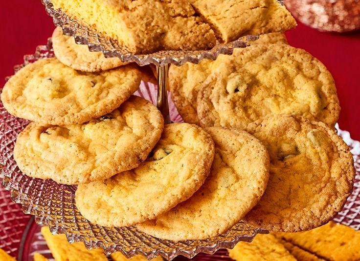 Sega cookies där saffran, tranbär och vit choklad harmoniserar fint tillsammans och ger en smakupplevelse utöver det vanliga.