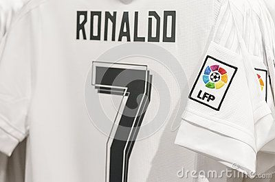 Ronaldo's shirt in the official FC Real Madrid. Spain