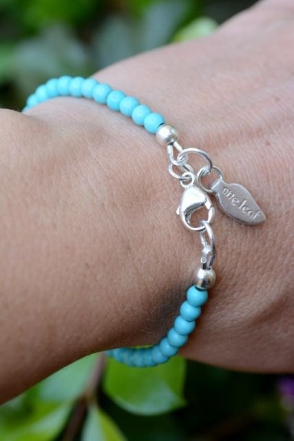 The beautiful Daydream Fine Bracelet. Turquoise, 100% Sterling Silver. Made in Australia.
