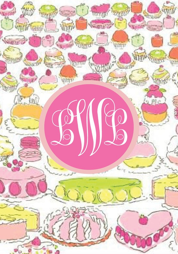 Lilly Pulitzer Let Them Eat Cake Phone Background