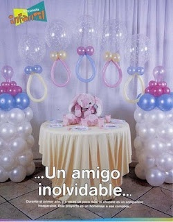 Chupeta de bexigas: Tables, Baby Parties, Babyshower Balloon Decor, Babyshower Ideas, Dos Bebê, De Bebê, Balloon Inspiration, Deco Parties, Baby Shower