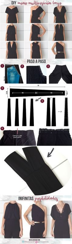 DIY Sewing | Mono largo multiposición | Infinity jumpsuit | Multiposition Jumpsuit | Infinity dress