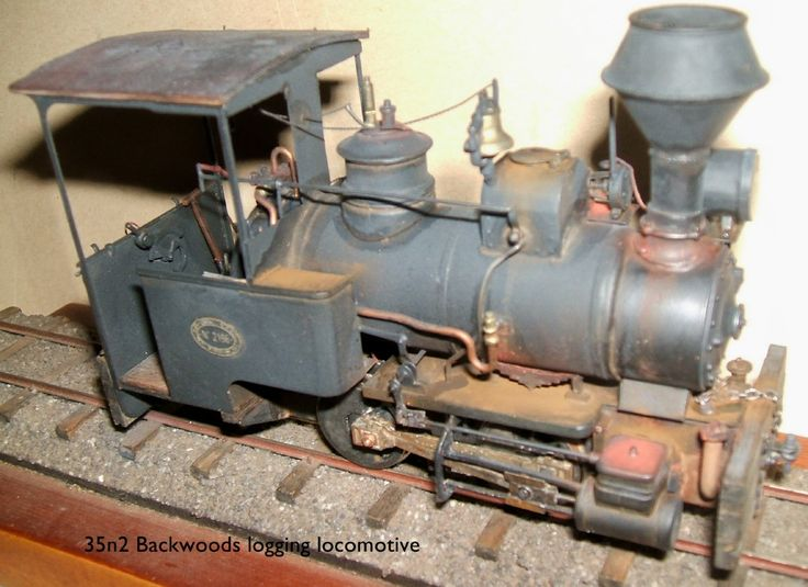 Hand made free lance logging locomotive scale 35n2