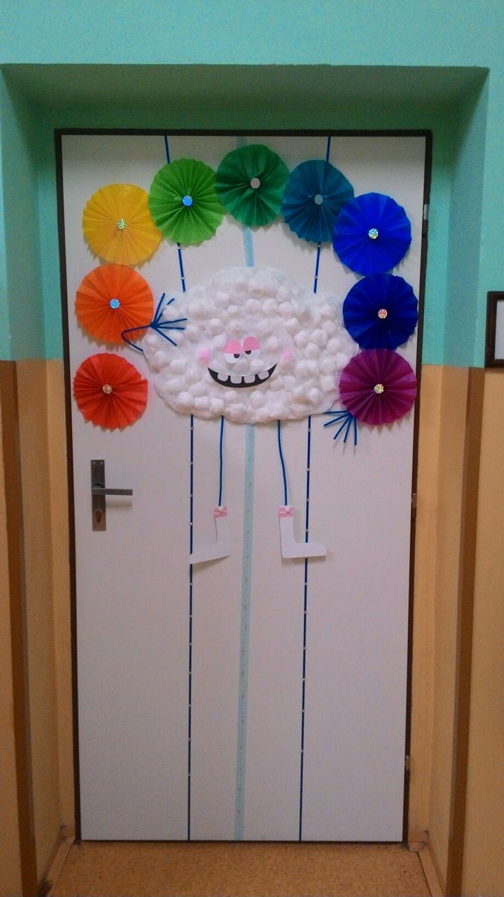 Door decoration rainbow, duhova vyzdoba na dvere