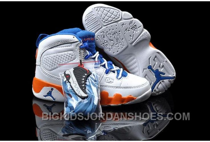 http://www.bigkidsjordanshoes.com/online-cheap-nike-air-jordan-9-kids-white-orange-blue.html ONLINE CHEAP NIKE AIR JORDAN 9 KIDS WHITE ORANGE BLUE Only $85.00 , Free Shipping!