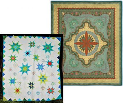 Hoopsisters EmbroidaBlock Class - Make a stunning Jacobean Journey or Feathered Star quilt on your embroidery machine!