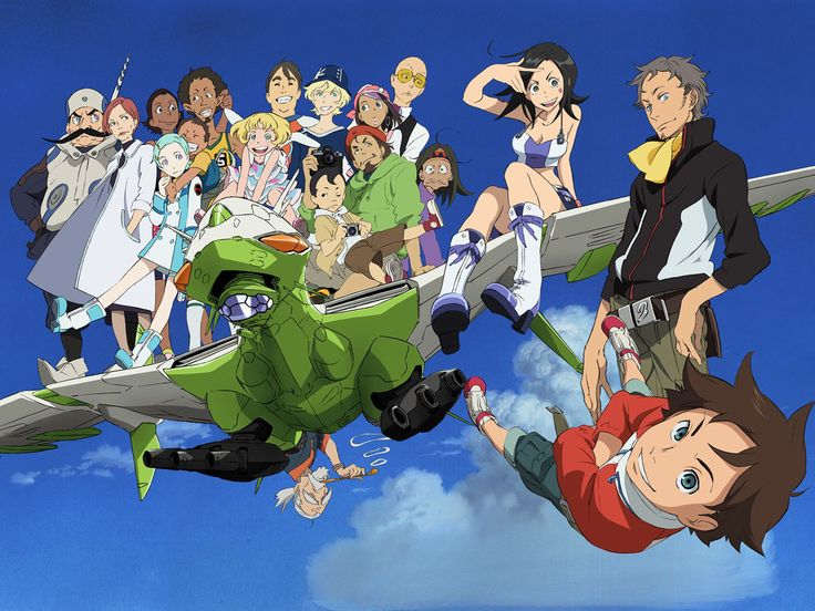 Eureka Seven is a series made by Bones.  There is a manga based off the series.  It falls in the adventure, mecha and romance genres.  I would highly recommend this series!  Normally, I would say this is a teens anime, however, it does have some suggestive scenes.  It has some strong language, and political plots running through it, which might be hard for younger kids to follow.  The series follows fourteen-year-old Renton Thurston and his adventures with the Gekkostate crew. There is also…
