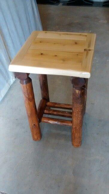 Two tone white cedar nightstand
