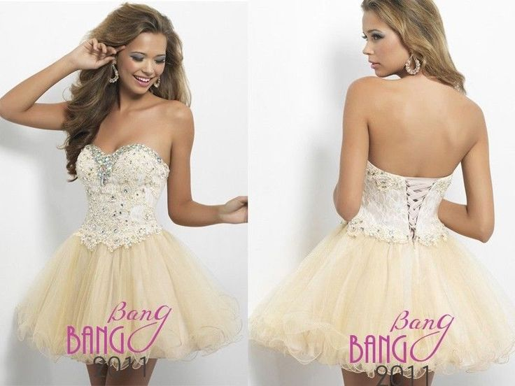 Beaded Short/Mini Cocktail Dresses Party Bridesmaid Ball Evening Prom Dresses  #bangbang #BallGown #Cocktail
