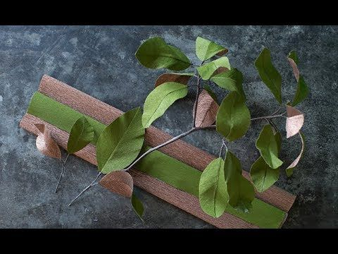 How To Make Double Sided Crepe Paper - www.LiaGriffith.com #crepepaperflowers #howto #crepepaperbotanical #paperleaves #paperflowers #paperflower