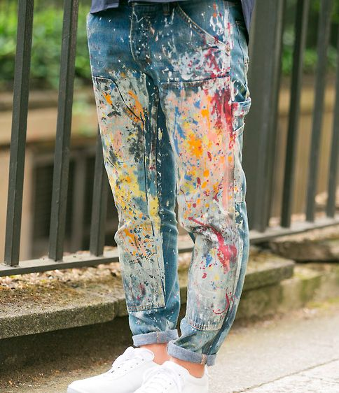 painted jeans