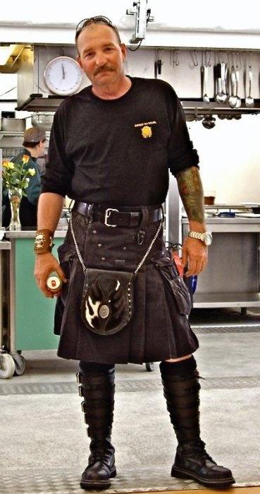 Black Workman's kilt