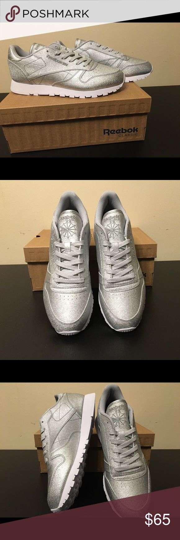 Reebok Classic Leather, Women's, Size 8 High-cushion, ultra-soft leather that will guarantee your comfort, silver color Reebok Shoes Athletic Shoes