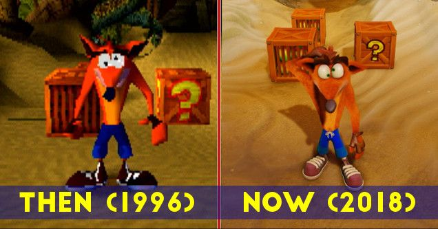 18 Then Vs Now Gaming Photos That Ll Make You Appreciate Technology Crash Bandicoot Bandicoot Scary Games To Play