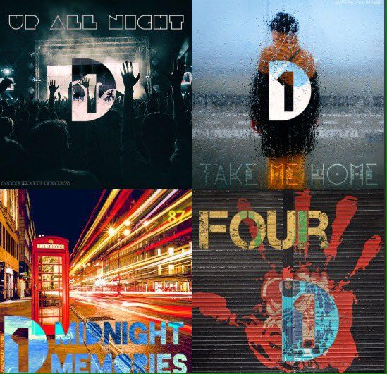 """Jabberwocky on Twitter: """"My reimagined One Direction logo and album covers (IG…"""