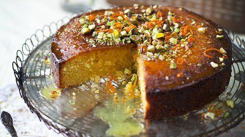 Gluten Free Lemon and Honey Polenta Cake http://gustotv.com/recipes/dessert/gluten-free-lemon-honey-polenta-cake/
