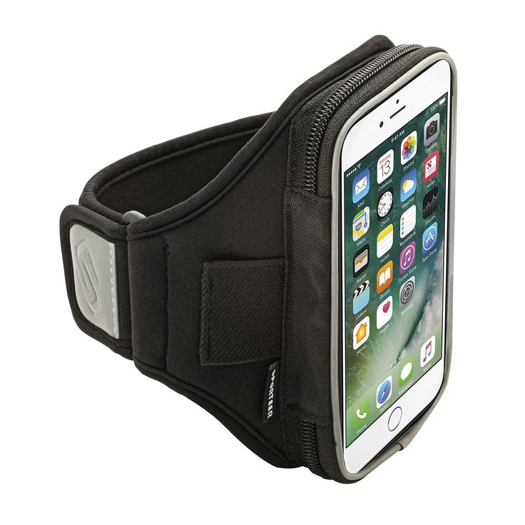 Sporteer V160 Armband for iPhone 7 Plus, iPhone 6S Plus, Google Pixel XL, Galaxy S7 Edge, S6 Edge +, Note 5, Moto G4/G4 Plus, Moto Z, Nexus 6P, and Other Phones w/ Cases - Strap Size M/L (Black). SPORT ARMBAND CASE DESIGNED FOR LARGE PHONES AND CASES: Armband is designed with a zippered pocket to fit all phones and cases up to 165 x 90 x 16 mm including iPhone 7 Plus, iPhone 6S Plus, Google Pixel XL, Samsung Galaxy Note 5, Note 4, Galaxy S6 Edge +, Galaxy A9, Nexus 6P/6, Moto Z Force…