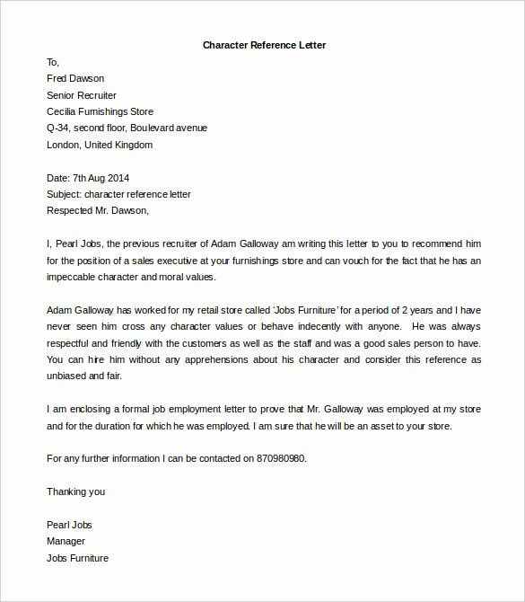 Free Letter Of Recommendation Template Unique Free Reference
