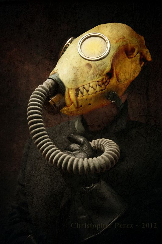 christophermarkperez ~ Curious Creatures ~ Our Multiverse Voyageur left behind a few very curious creations. These are beyond present comprehension to explain or understand. They just are. For better or worse.  #Dark #Gasmask #Steampunk
