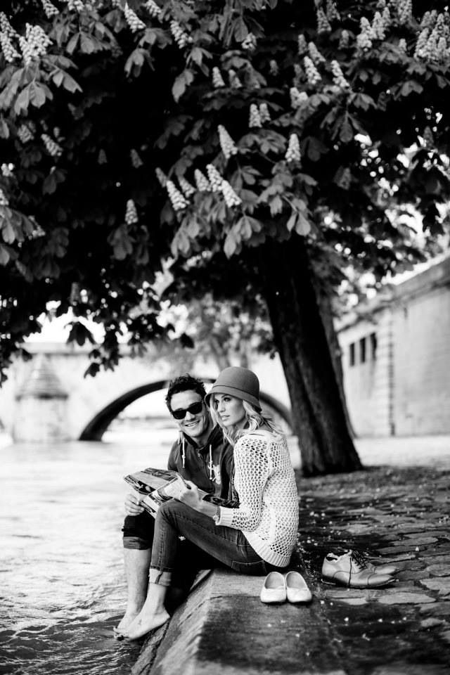 Paris engagement photos.. Ooo do it with one of our Ireland pics. The horse backing?