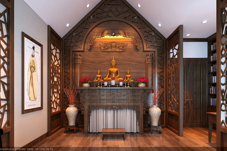 Buddha room , Design in Hanoi with the Euro Classical style
