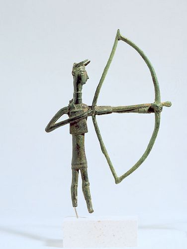 A Sardinian Nuragic Bronze Archer 9th-7th century B.C.E., allegedly from Oliena   #TuscanyAgriturismoGiratola