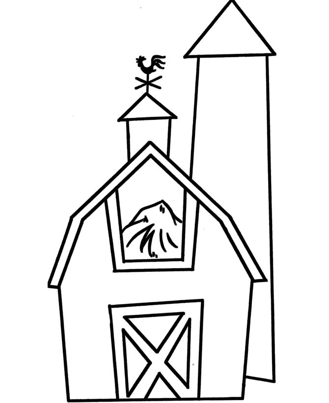 PreK Coloring pages Barn Preschool