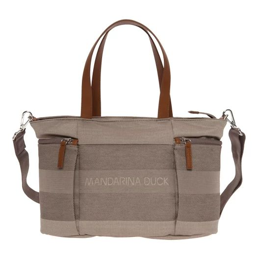 MANDARINA DUCK Borsa Shopper SPEAK IIT14 Taupe - Bagsabout