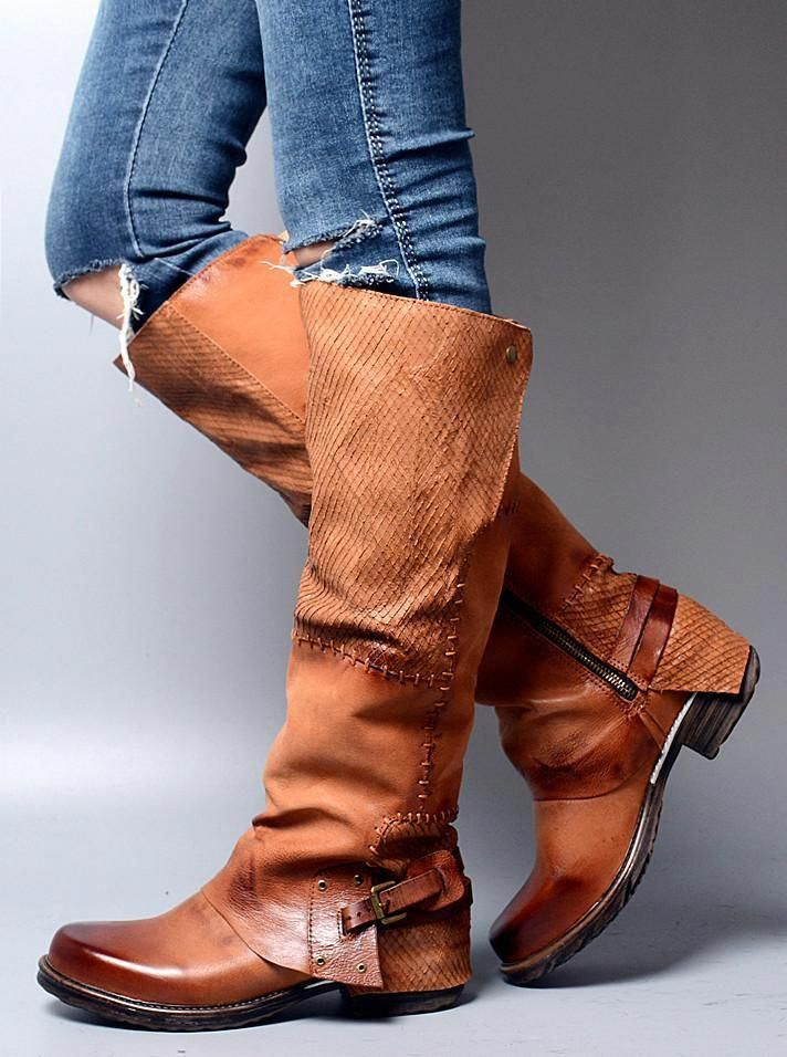 60f63d33b81 Knee High Western Boots Knee-High Boots Boho Beach  Highheelboots ...