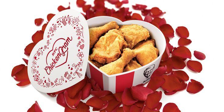 KFC vous propose d'envoyer un bucket en forme de coeur pour la Saint-Valentin