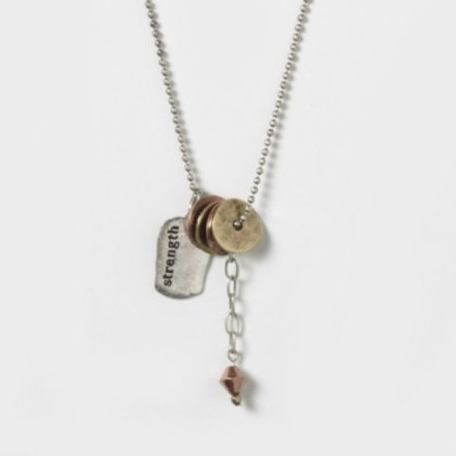 strength charm necklace jewelry accessories