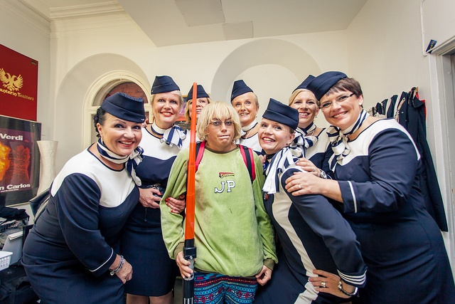 Finnair cabin crew wrote a funny book about incidents on flights. The profit of the book sales will be donated to a charity. http://www.airbornethebook.com/ Photo by Niko Helle