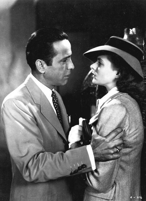 Humphrey Bogart and Ingrid Bergman in Casablanca (1942)