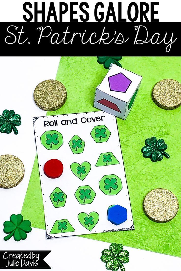 St Patrick S Day Math Shape Games Activities Kindergarten Math Activities Shapes Kindergarten Teaching Shapes [ 1104 x 736 Pixel ]