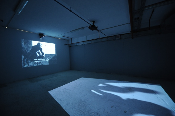 """Paul Chan Untitled (after Lacan's last laugh), 2008 two-channel video projection, 30' Courtesy: The Dakis Joannou Collection Installation view, 2nd Athens Biennale 2009 """"Heaven"""""""
