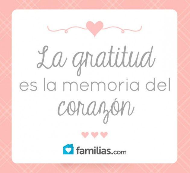 Gratitud, cimiento de una familia feliz