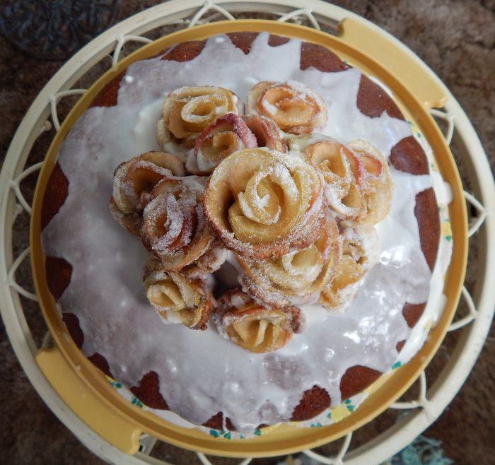 Apple Green Tea Cake with Apple Roses | Consider the Peel | Pinterest