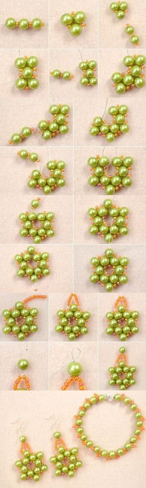 Tutorial on How to Make Olive Pearl Bead Jewelry with Orange Seed Beads at Home from LC.Pandahall.com   Jewelry Making Tutorials & Tips 2   Pinterest by Jersica