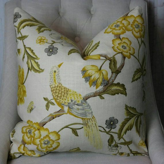 High End Designer Throw Pillows Part - 46: Designer Pillow Cover, Both Or One Sided Pillow Cover, High End Designer  Pillow, Accent Pillow, 01832 Lemon Zest Fabricut Pillow