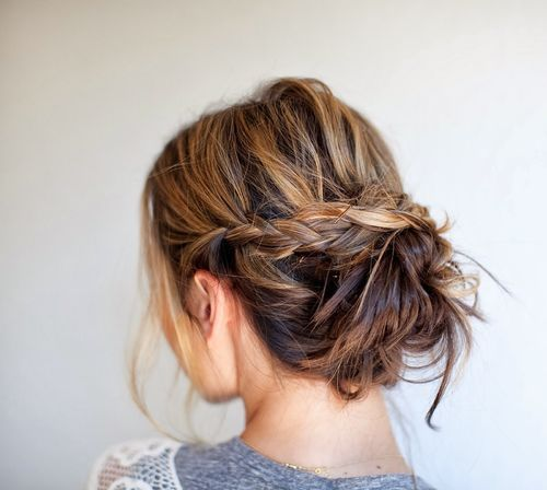 Messy braid.  Will try for upcoming wedding, and maybe just because it's cute.