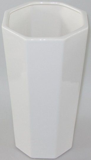 Wazon Kanciasty Duży Biały 30Cm