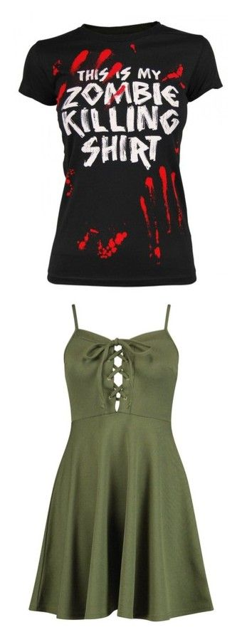 """""""hs"""" by geekgirl199 ❤ liked on Polyvore featuring tops, t-shirts, shirts, 10. tops., t shirts, goodie two sleeves, tee-shirt, shirt top, dresses and green lace up dress"""