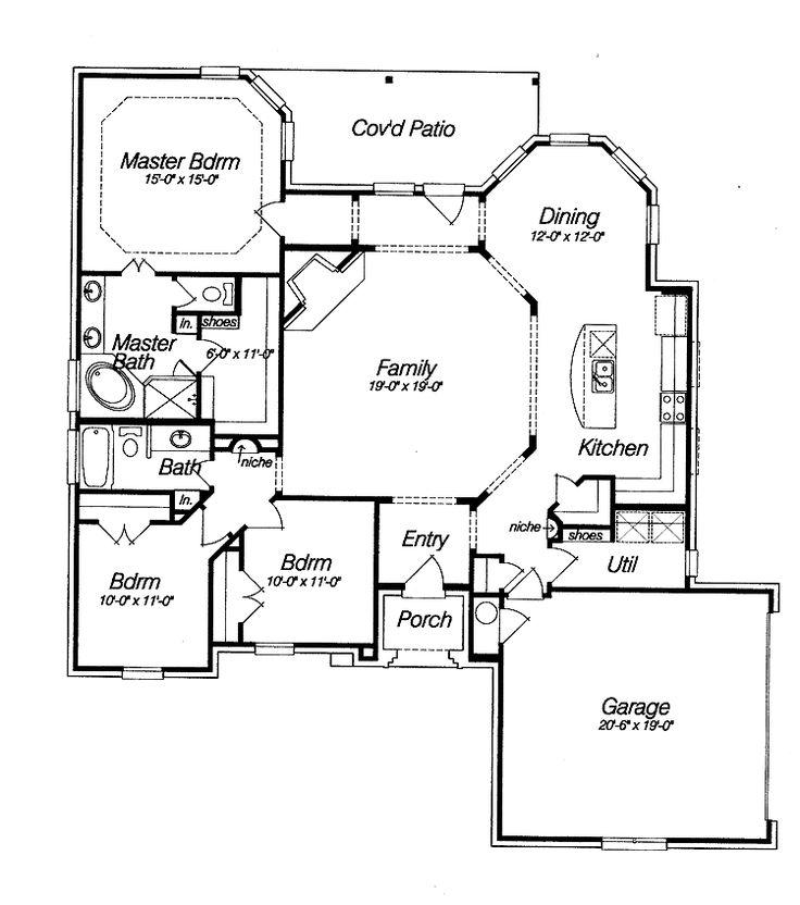 open floor house plans   Beautifull Open Floor Plan (HWBDO14810)   French Country House Plan ...