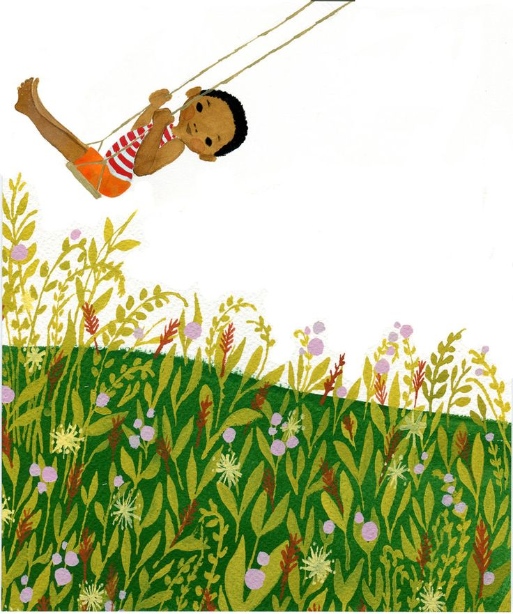 Falling in love with Julie Morstad illustrations. This one is from The Swing.