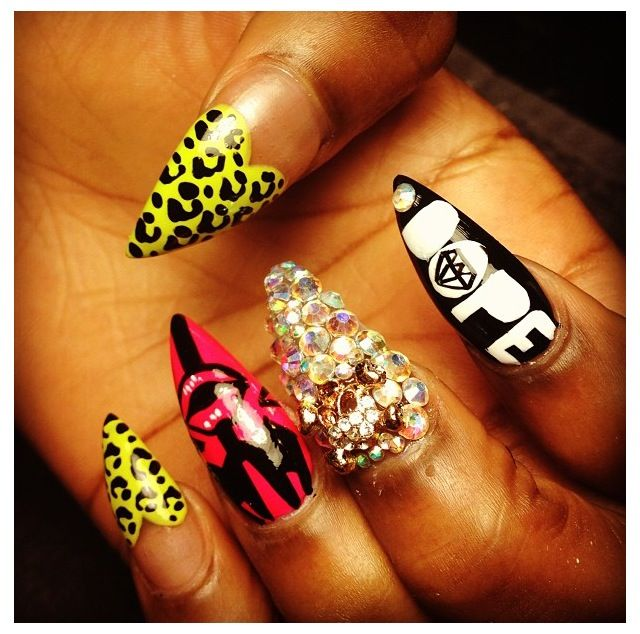100% Dope Nails = dope nail design ideas= nail swag ...