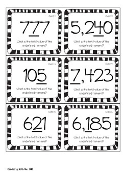 Place Value to Thousands - What's the Total Value?  Free :)
