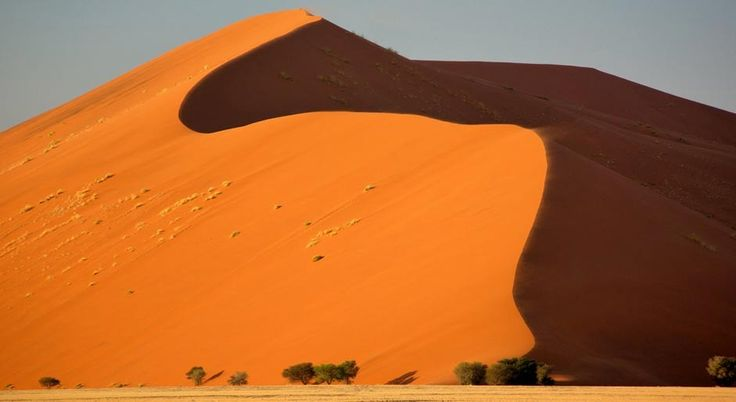 Dune 45 at Sossusvlei is the highest (and largest) in the world #namibia