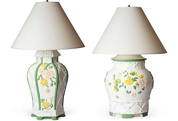 These two chinoiserie table lamps are just too chic for words. So enough said. One Kings Lane Tastemaker Tag Sale. Now. www.onekingslane.com