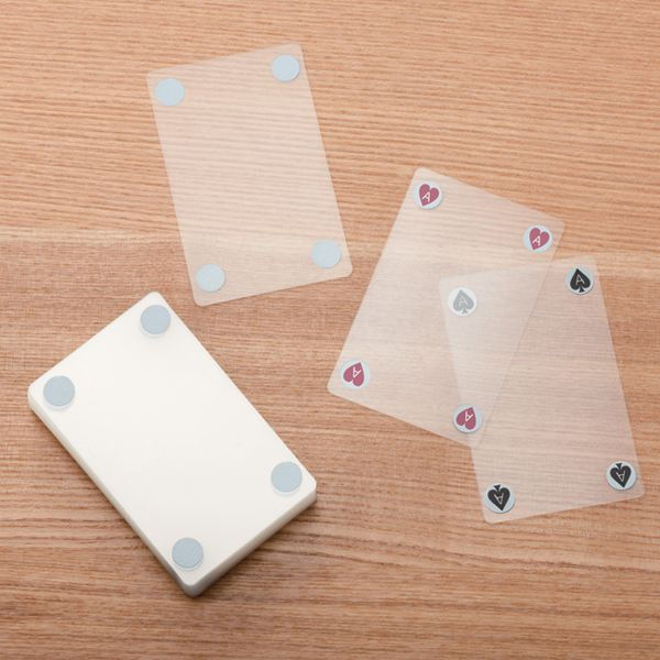 Transparent card deck from MUJI